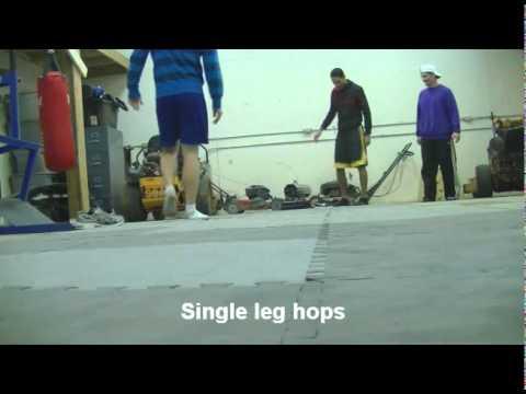 Vertical jump training - Line hops