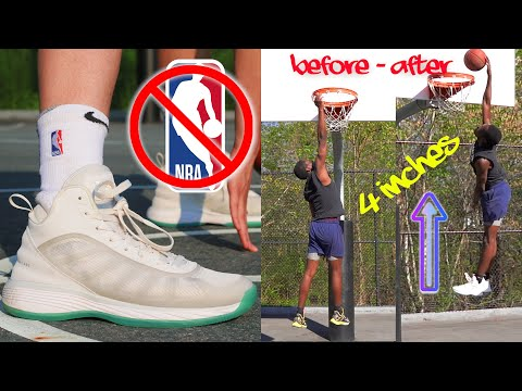 Testing BANNED NBA Basketball Shoes PART 2! With Athletic Hoopers (JUMP TEST)