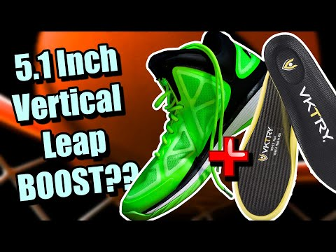 My Vertical Leap Test Results Using Shoes Banned By the NBA & VKTRY Inserts!