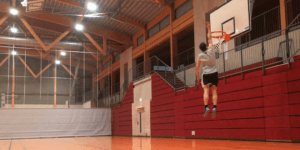 Jordan Kilganon 50 Inch Vertical And Dunking In Jeans
