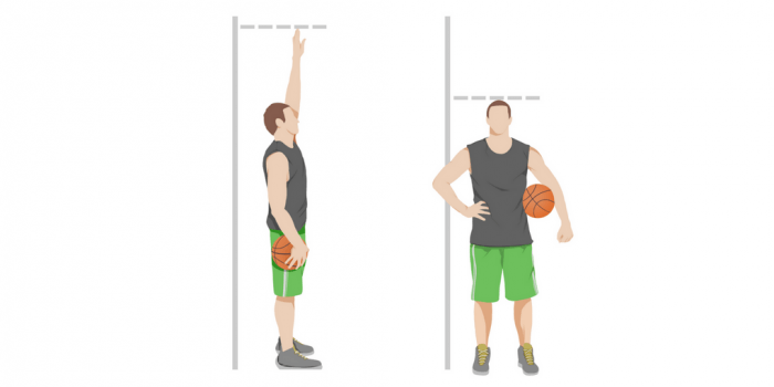 Standing reach vs height